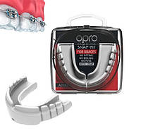 Капа OPRO Snap-Fit FOR BRACES White (art.002318004), фото 1