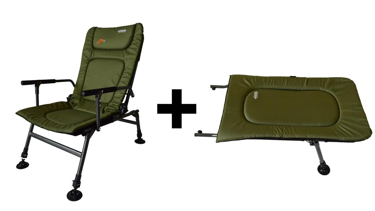 Кресло рыболовное, карповое Novator SR-2 + Подставка Novator POD-1