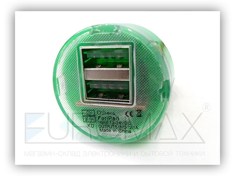 Зарядное устройство авто 2USB 12V2A