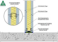 Звукоізоляція перегородок Knauf W112 Titan - 100мм