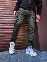 """Молодежные мужские штаны """"Межигорье"""" осень-весна оливковые (хаки), фото 1"""