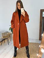 Женское молодёжное кашемировое пальто с поясом, фото 9