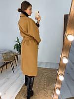 Женское молодёжное кашемировое пальто с поясом, фото 10