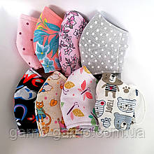 Многоразовая маска для лица 3 слойная защитная тканевая мягкая детская женская мужская, подростковая