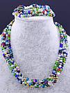 Комплект украшений бусы и браслет  Чешский хрусталь 50 см , фото 2