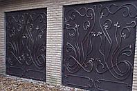 Ворота гаражные кованые