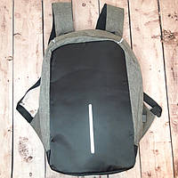 Рюкзак АнтиВор городской Bobby 2.0 [ ОРИГИНАЛ ] большой серый (Живые фото)
