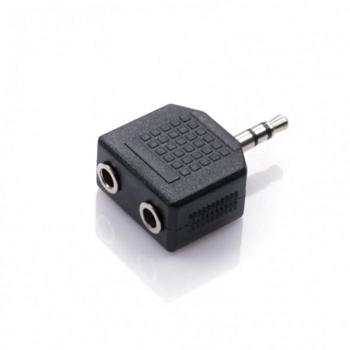 Переходник штекер 3.5 мм папа/ 2 х 3.5 мм мама двойной