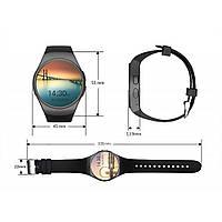 Наручные смарт часы Smart Watch Kingwear KW18 Чёрные + ПОДАРОК:Нескользящий коврик для телефона. Размер 11*9