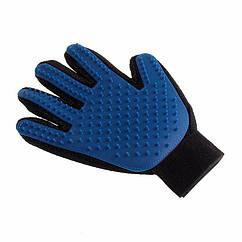 Щітка рукавичка для вичісування шерсті домашніх тварин True Touch Pet Glove