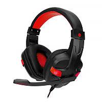 Проводная гарнитура SOYTO SY860MV Black + Red игровые наушники с микрофоном