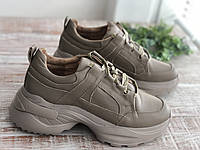 Кожаные женские кроссовки Sonya беж размеры 36,37,38,39, фото 1