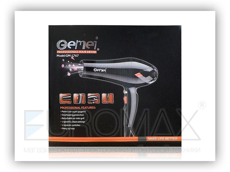 Фен для волос 3000Вт Gemei GM-1767
