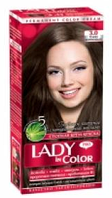 Lady in color краска для волос №3.0 Темно - коричневый