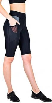 Велосипедки женские для фитнеса с высокой посадкой, спортивные шорты M (44-46)