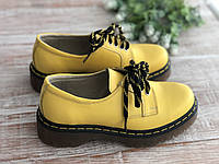 Кожаные женские ботинки 2323 жел размеры 36,37,38, фото 1