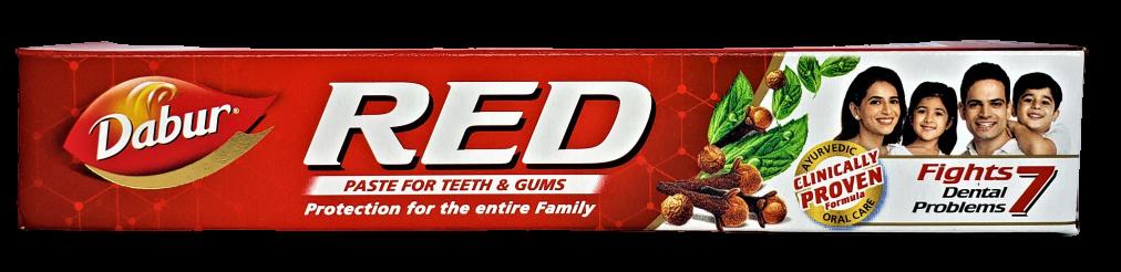 Зубная паста Ред, Red (100gm) ОРИГИНАЛ Индия — аюрведическая классика по уходу за полостью рта