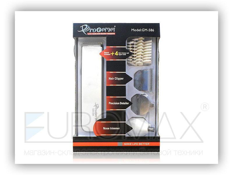 Машинка для стрижки волос триммер Gemei 4 в 1 60шт GM-586