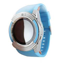 Розумні смарт годинник Smart Watch V8 блакитні
