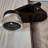 Объективы линзы для телефона Fisheye Рыбий глаз Фишай прищепка фиксатор мешочек для хранения (Живые фото)