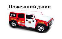 Детская кровать машина из МДФ пожарная машина джип Hummer  (спальное место 70*150 см), фото 1