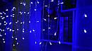 Гирлянда бахрома улица 120LED (Ø 3,3) 4м, сосульки 30/50/70см (флеш) (бП) Синий 154522, фото 3