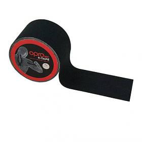 Кинезиологический тейп OPROtec Kinesiology Tape TEC57541 чорний 5см*5м