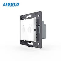 Механизм сенсорный выключатель Livolo Sense 2 канала белый (782000211)