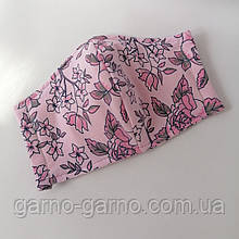 Многоразовая 3-х слойная защитная  трикотажная тканевая маска для лица детская женская подростковая мужская