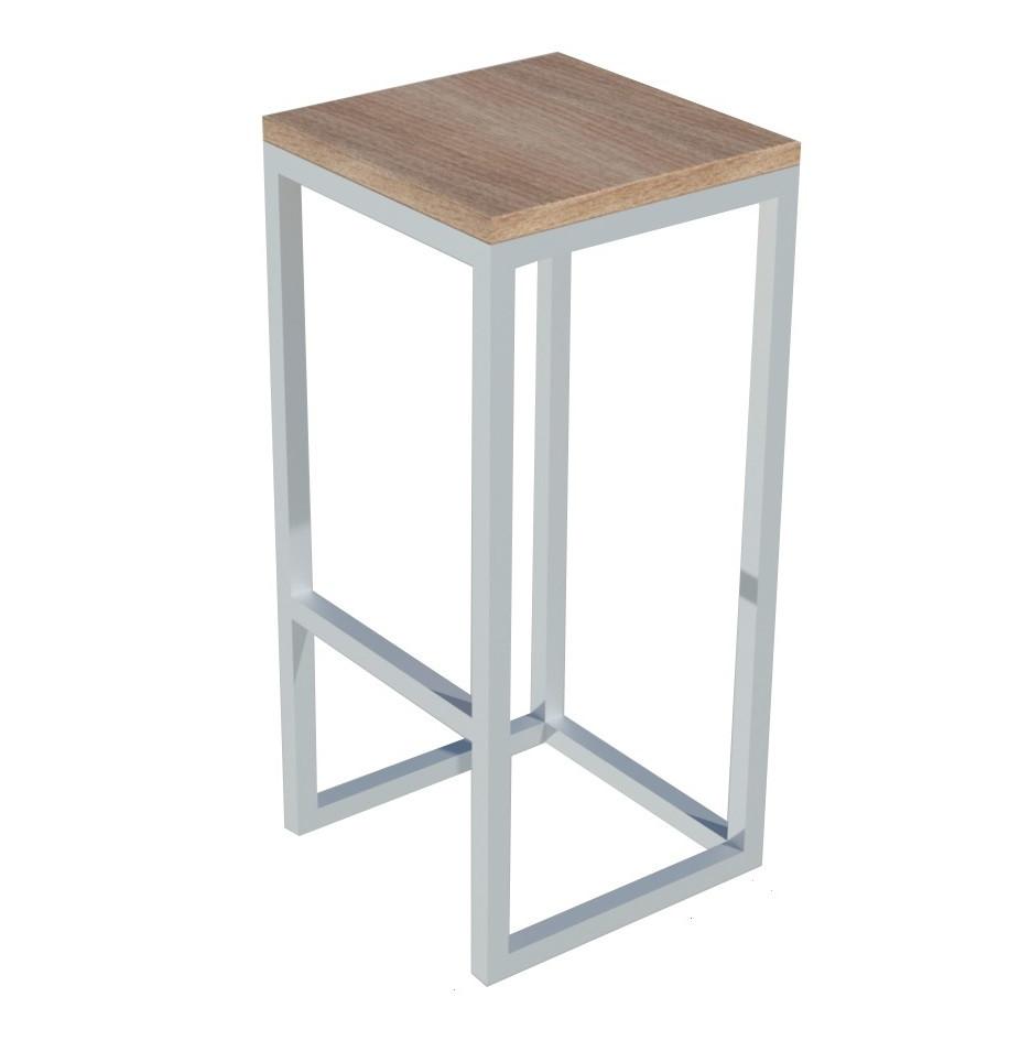 Классические белые стулья из металла и дерева с подножкой