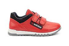 Детские кроссовки кожаные весна/осень красные-черные CrosSAV 39L, фото 2