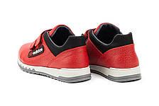 Детские кроссовки кожаные весна/осень красные-черные CrosSAV 39L, фото 3