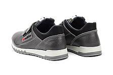 Детские кроссовки кожаные весна/осень серые-черные CrosSAV 39L, фото 3