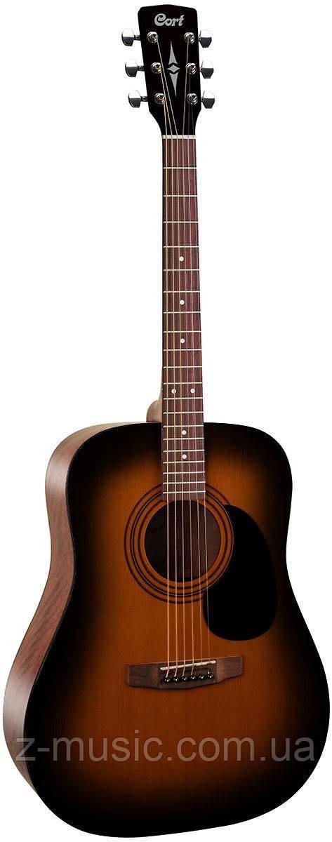 Гітара акустична CORT AD810 (Satin Sunburst) + поріжок, затискач, скарбничка і 2 медіатора