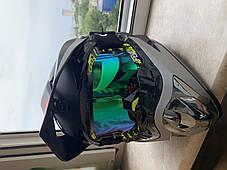 Серо -красный  Матовый мотошлем мото кроссовый шлем  фулфейс Fox  (эндуро, даунхил), фото 3