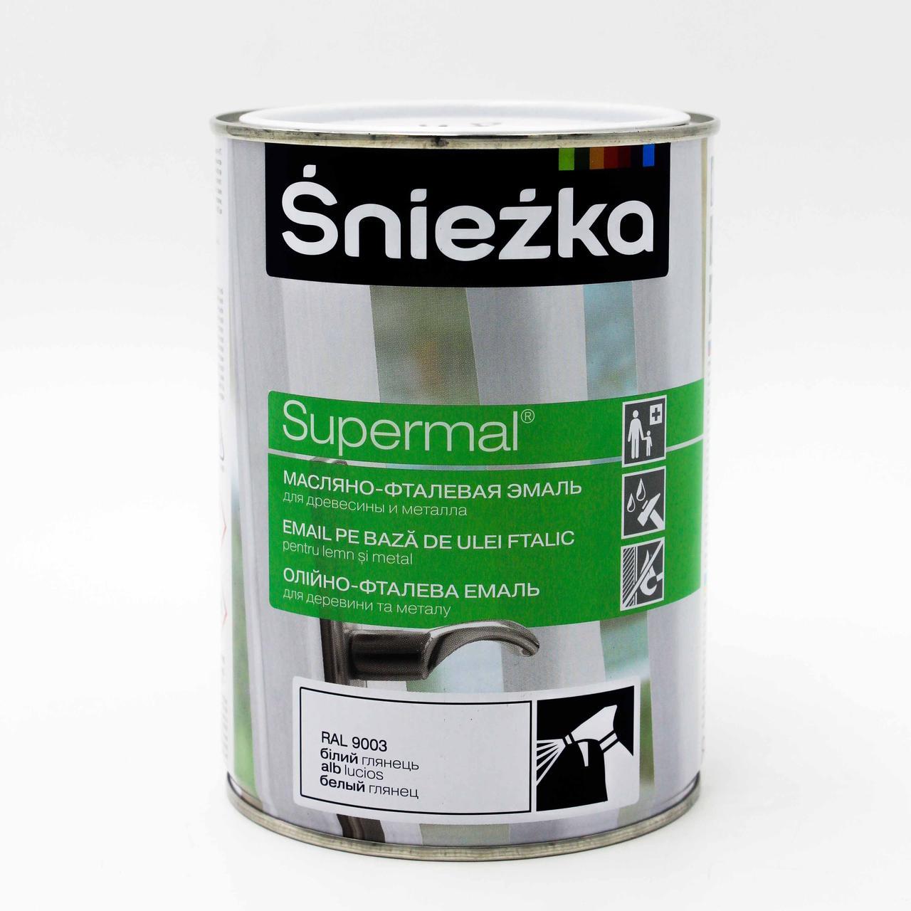 Фарба Sniezka Supermal олійно-фталева біла Г 9003 0,8л PL