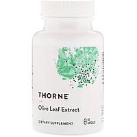Экстракт из листьев оливкового дерева Thorne Research, Olive Leaf Extract, 60 капсул