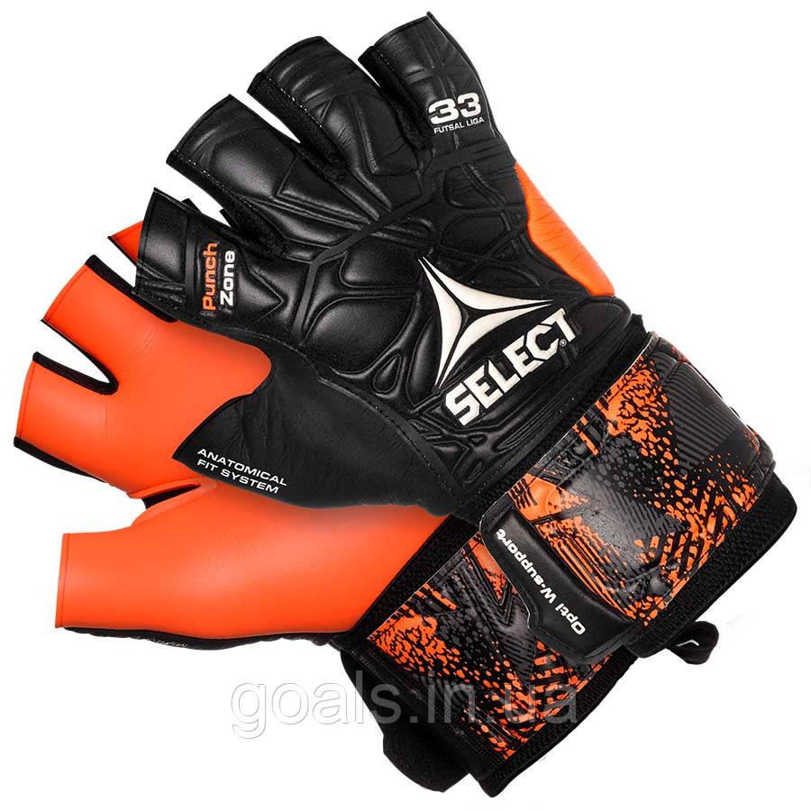 Перчатки вратарские Select 33 Futsal Liga (201) черн/оранж р.9
