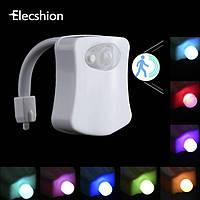 Подсветка для унитаза Led toilet Light светильник с датчиком движения (Оригинальные фото)