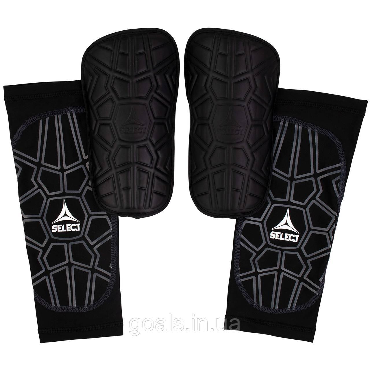 Щитки футбольные SELECT SHIN GUARD SUPER SAFE, (010), черный p.M