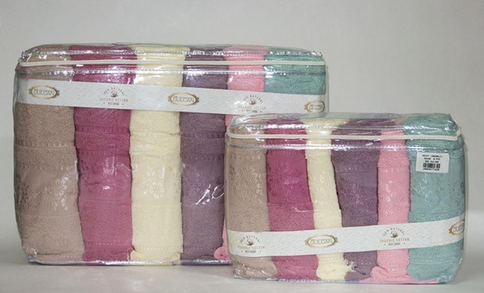 Рушник лицьове 6 штук Gulcan Cotton 6*100х150см, 2746_daisy_sacakli