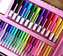 Набор для рисования с мольбертом 208 предметов Розовый 171667 sale, фото 6