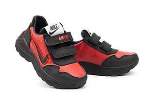 Детские кроссовки кожаные весна/осень красные-черные CrosSAV 40L