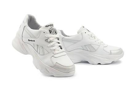 Жіночі кросівки шкіряні весна/осінь білі-сірі Yuves 777, фото 2