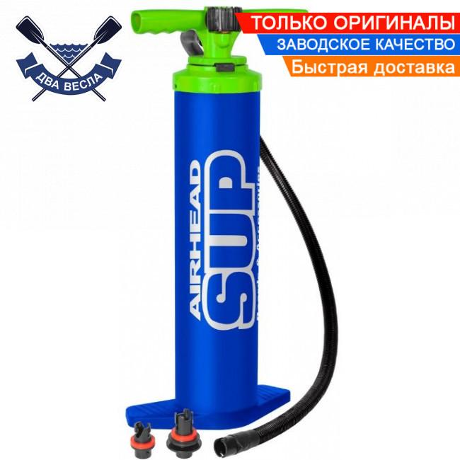 Ручной насос двухступенчатый с манометром для надувной  доски САП board SUP лодки аттракциона, 20 psi, США
