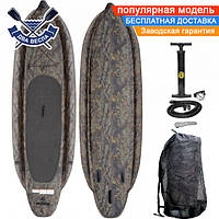 Надувная САП доска падлборд SS Super Stable SUP-Board 325x96x10см до 140 кг с надувными стабилизаторами, США