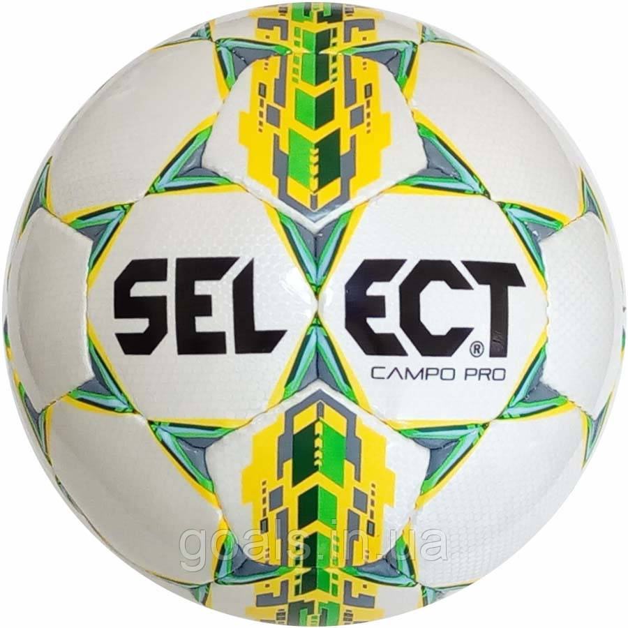Мяч футбольный SELECT Campo Pro ((320) бел/желт) размер 3
