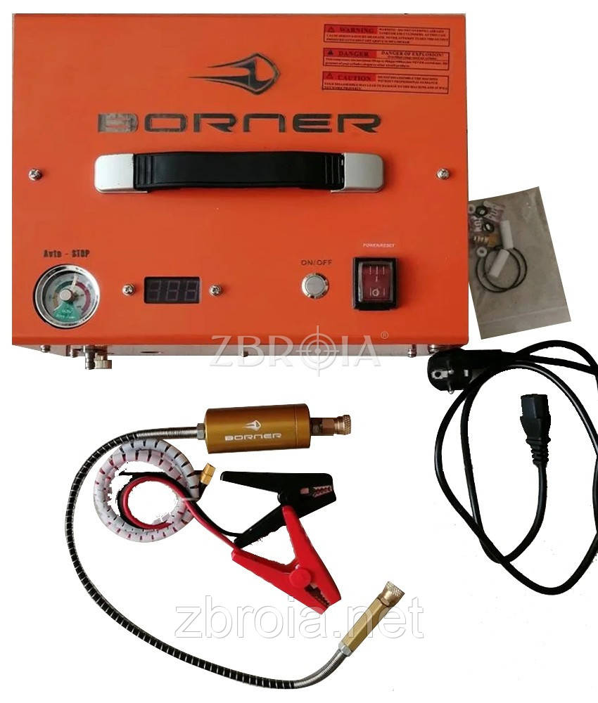 Електричний компресор високого тиску Borner Auto-Stop (300 атм) 12/220 V