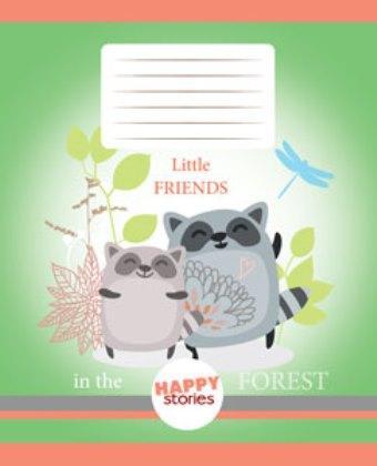 Тетрадь TM Green 18 листов в клетку (2054к) Счастливая история