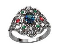 Кольцо женское из серебра Красота